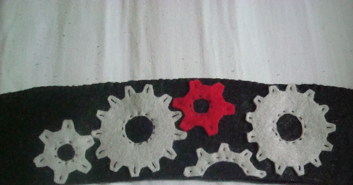Crystal panda felt steampunk gears cup cozy for Cup cozy pillow