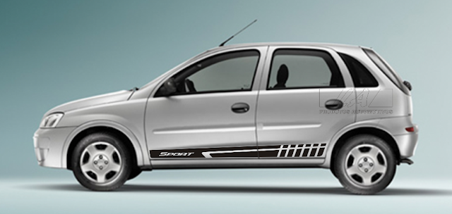 Kit adesivo em vinil automotivo modelo Sport CSL1 para Novo Corsa