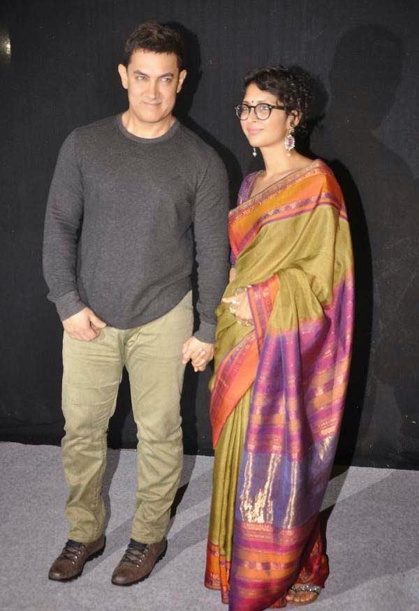 Aamir Khan and Kiran Rao At The Star Parivaar Awards 2014