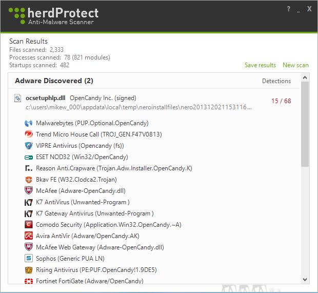 برنامج مجاني لمكافحة البرمجيات الخبيثة والضارة herdProtect Anti-Malware Scanner