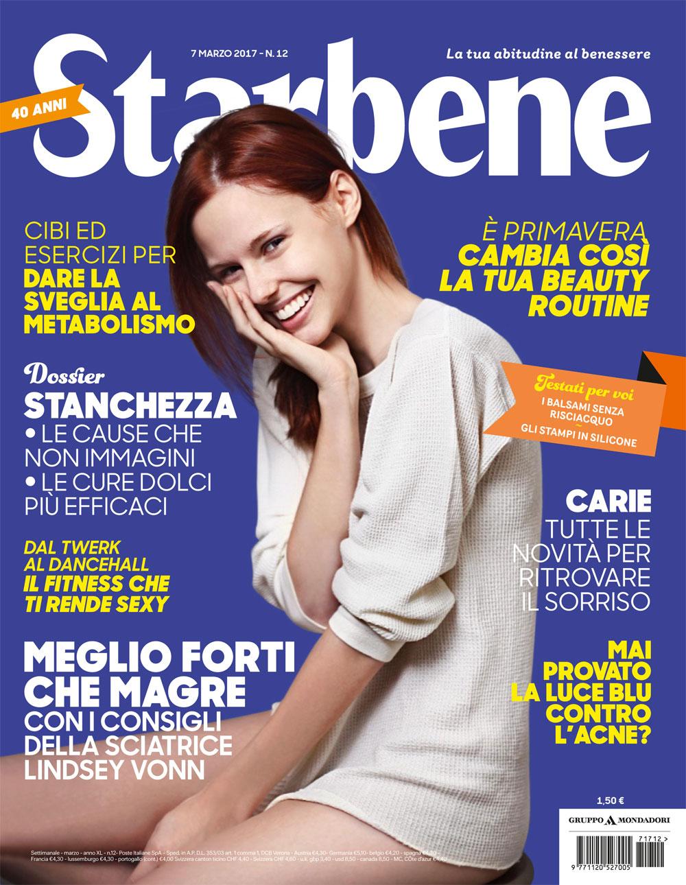 """Intervista settimanale """"Starbene"""" n°12 del 07/03/2017"""