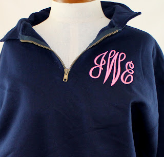 Preppy Monogram zip sweatshirt