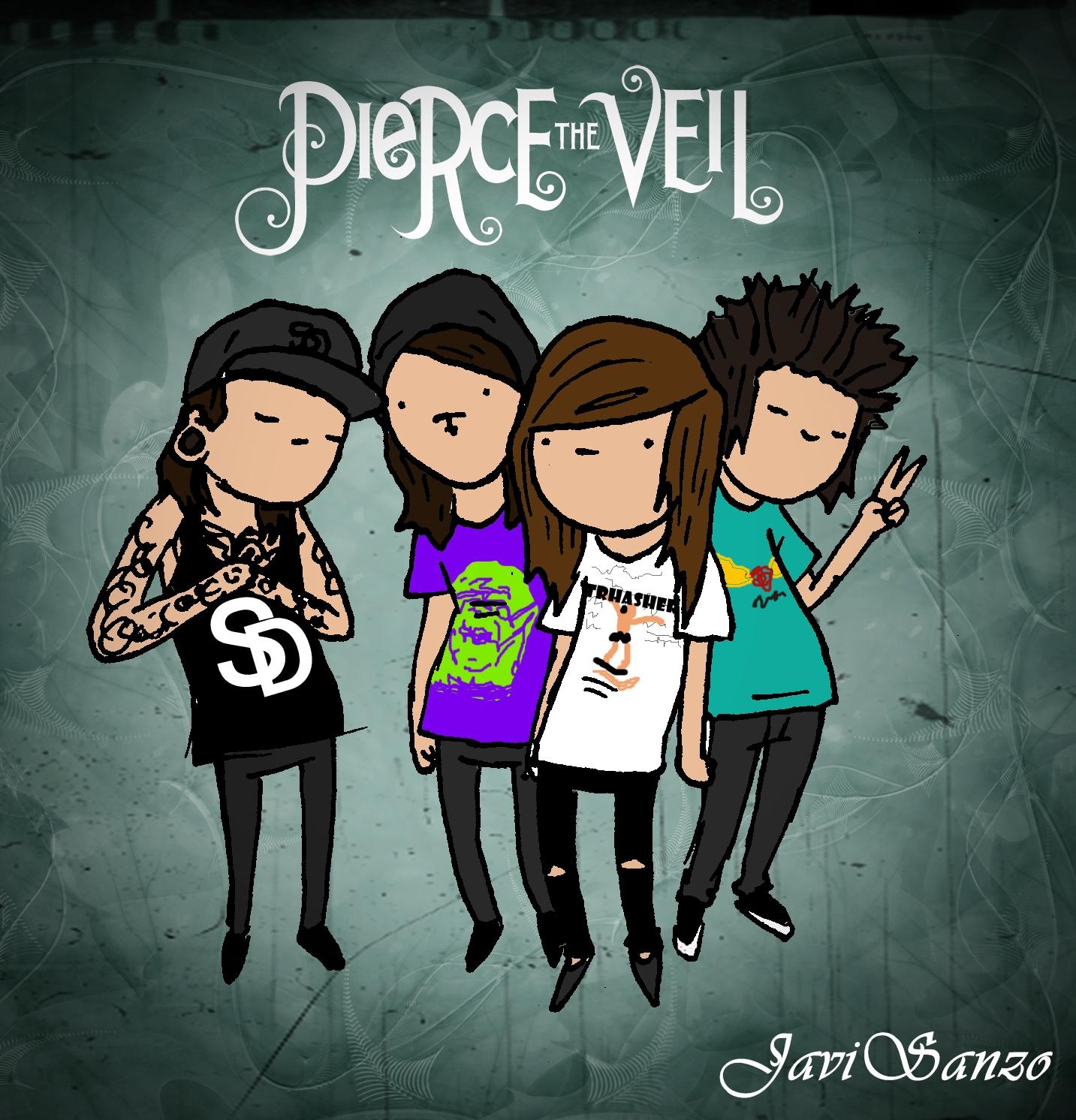 how to draw pierce the veil album cover