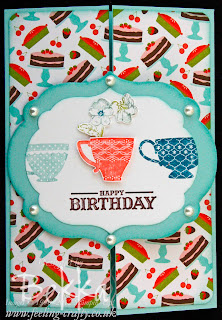 Birthday Card featuring Tea Shoppe from Stampin' Up!