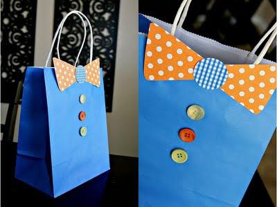 sacola de papel decorada para fazer lembrancinha para o dia dos pais