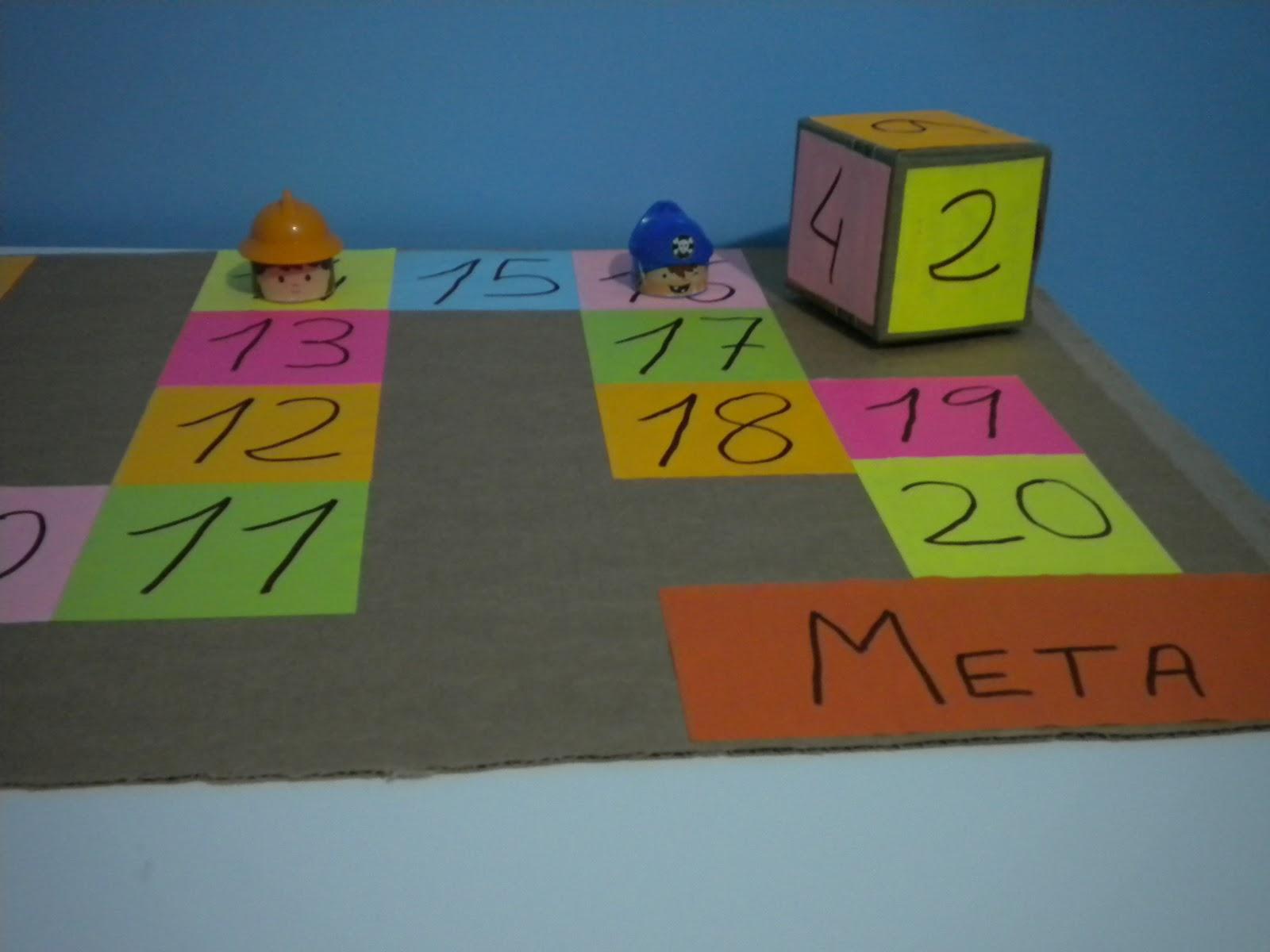 juego de mesa colores y nmeros para hacer