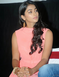 Actress Pooja Hegde Pictures in Short Dress at Oka Laila Kosam Prerelease Press Meet  9.jpg