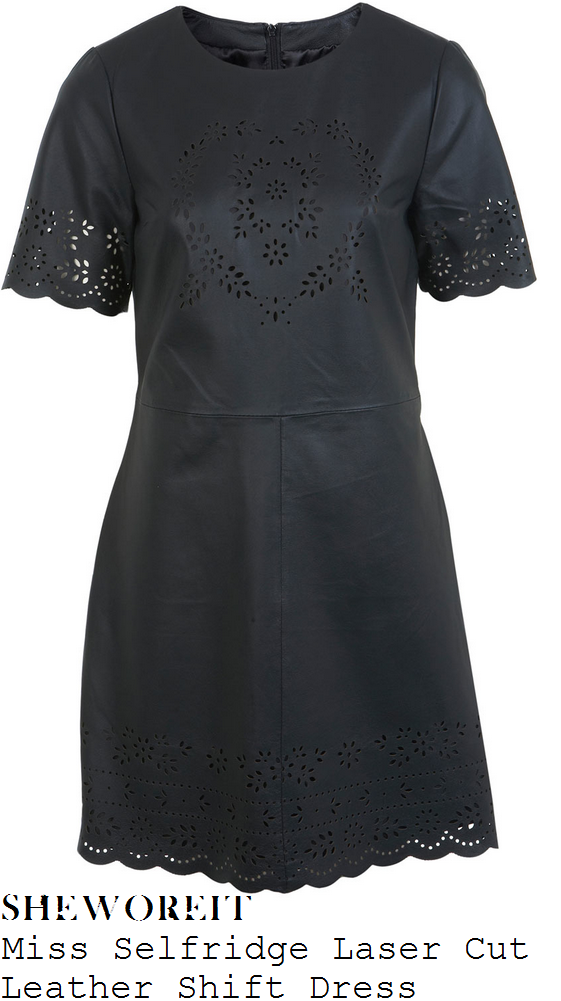 millie-mackintosh-black-leather-floral-laser-cut-dress