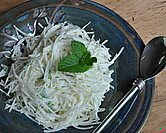 Kohlrabi & Apple Slaw (A Veggie Venture)