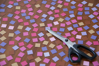Scissors pixel magnets DIY