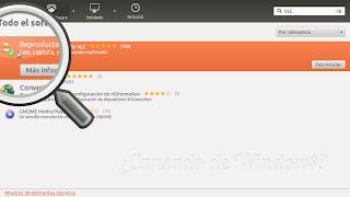 Instalar VLC desde el centro de Software de Ubuntu