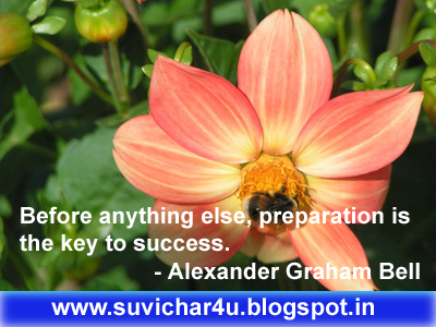 Before anything else, preparation isthe key to success.