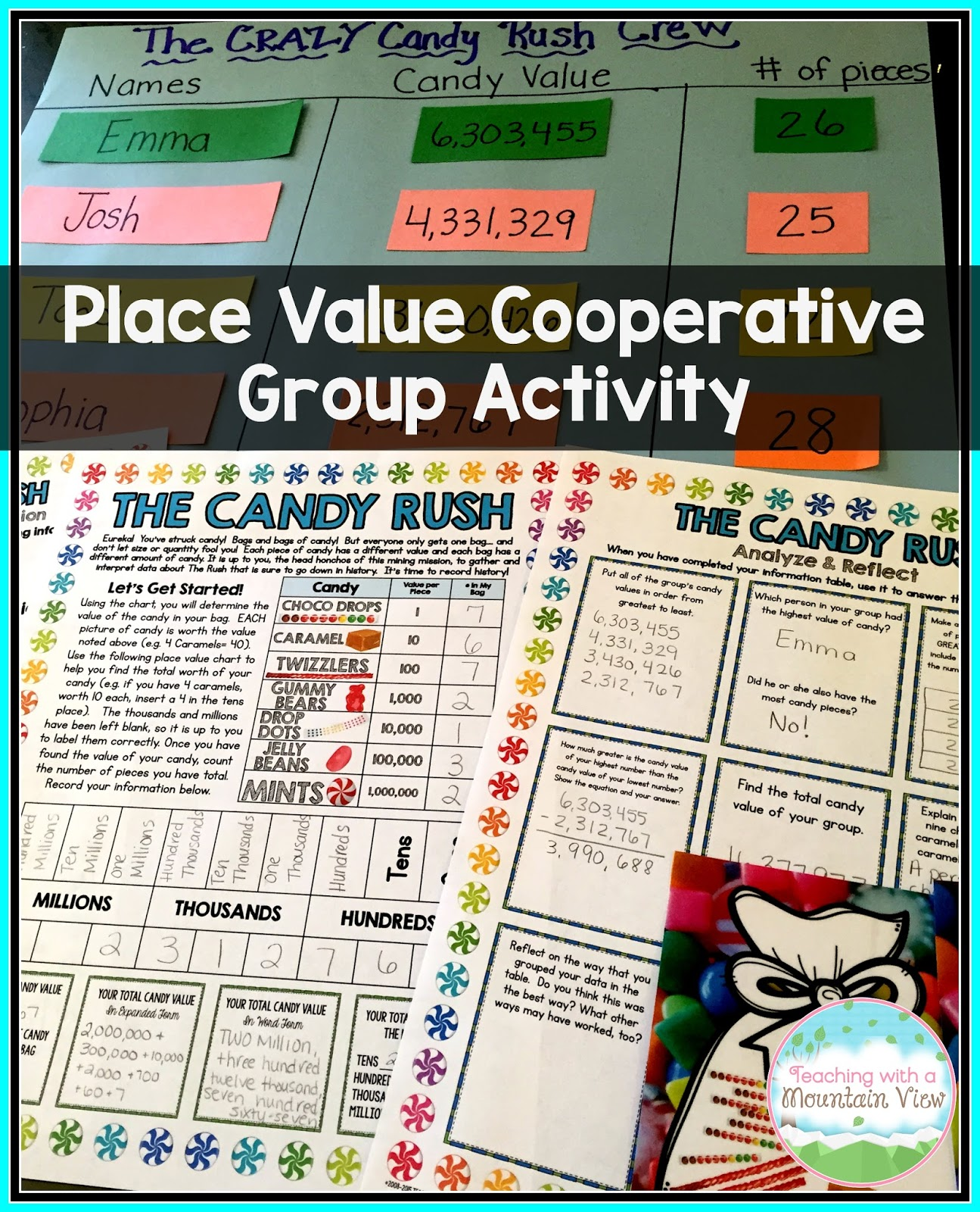 worksheet Place Value Chart 3rd Grade teaching with a mountain view place value they may have the lowest because of types candy had all those lightbulb moments during this activity that i just l