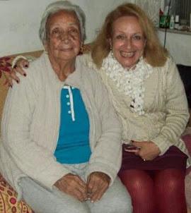 Com mamãe no dia dos meus 62