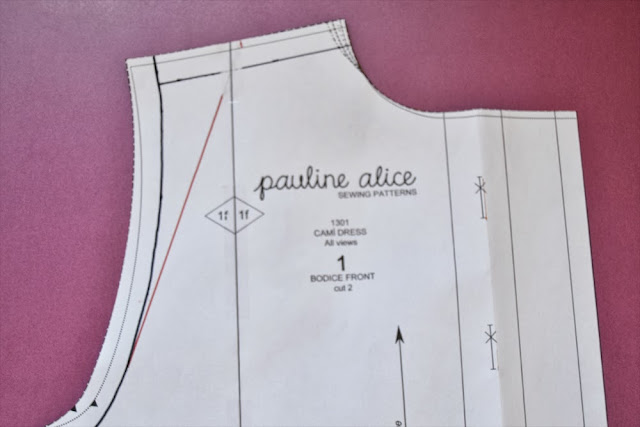Camí dress pattern, sewing pattern, shirt dress, pauline alice, adjustment, shoulder adjustment, fba, sba, full bust adjustment, small bust adjustment