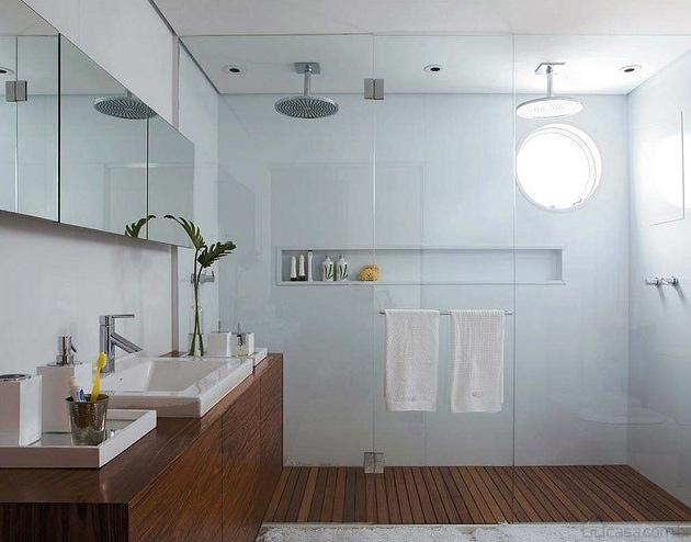 Construindo Minha Casa Clean Nichos na Decoração!!! -> Foto Nicho Banheiro