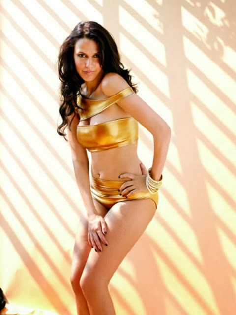 Neha-Dhupia-Maxim-2010-Photo-Golden-Bikini