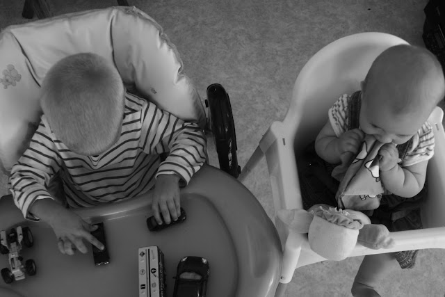 Highchair play.