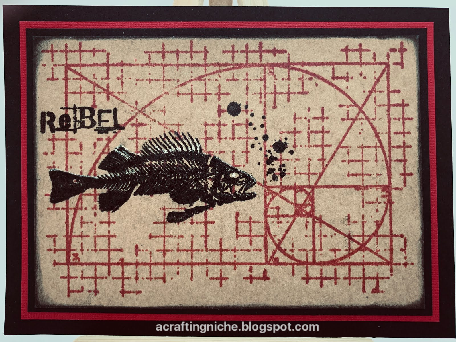 Marion Emberson clear rubber stamp in triangles theme New in packaging