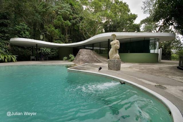 Casa moderna Mid Century en Río de Janeiro, Brasil año 1951