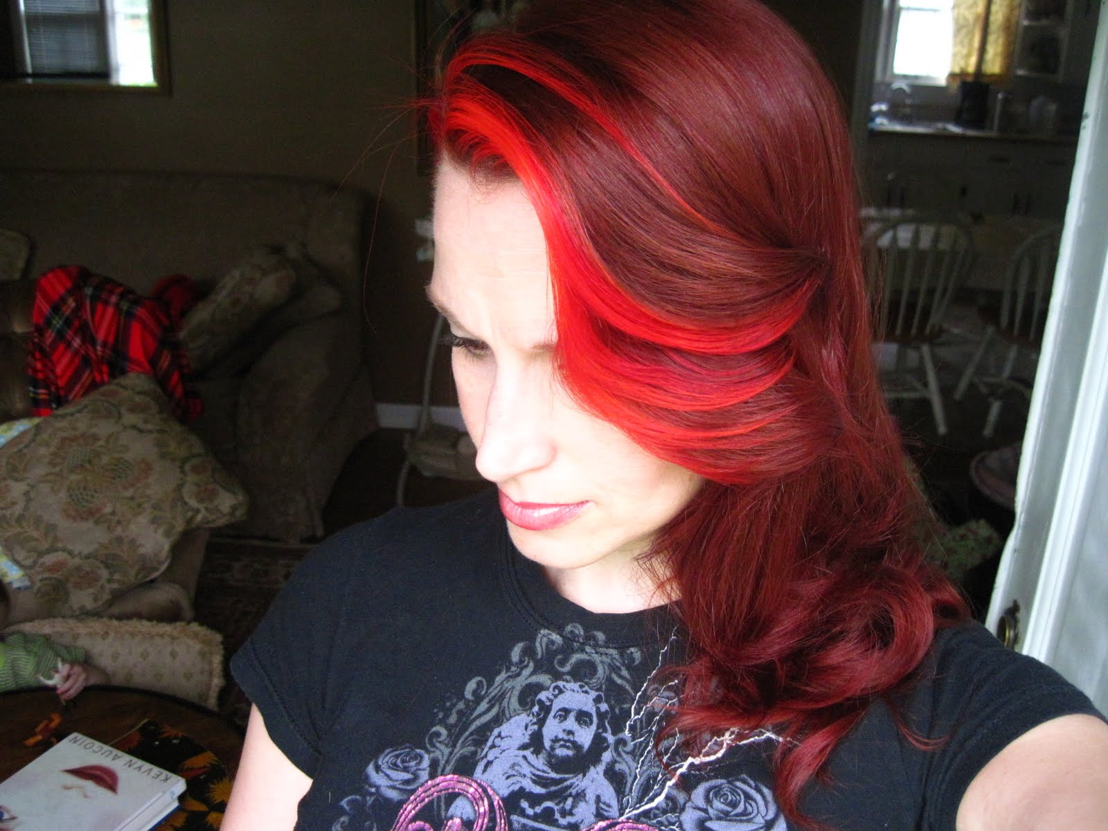 Red Hair with Blonde Streaks