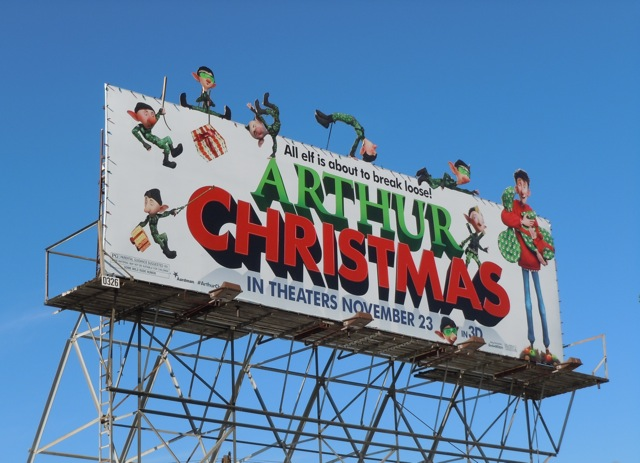 Arthur Christmas movie bilboard