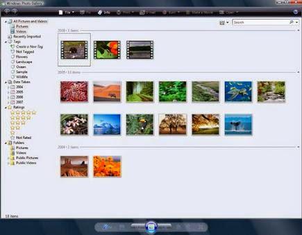 Windows Photo Gallery: Software Membuka File Gambar Gratis