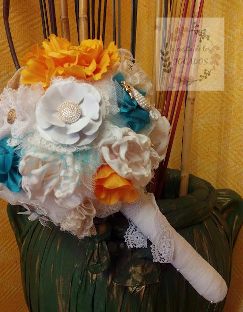 ramo artesanal para novia
