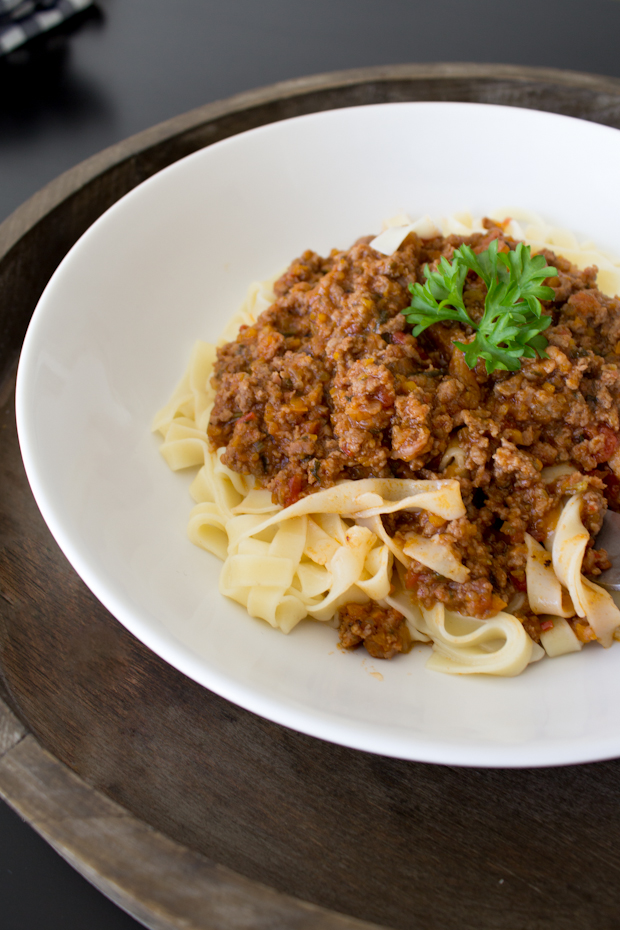 Tagliatelle Bolognese ~ Punched Potatoes