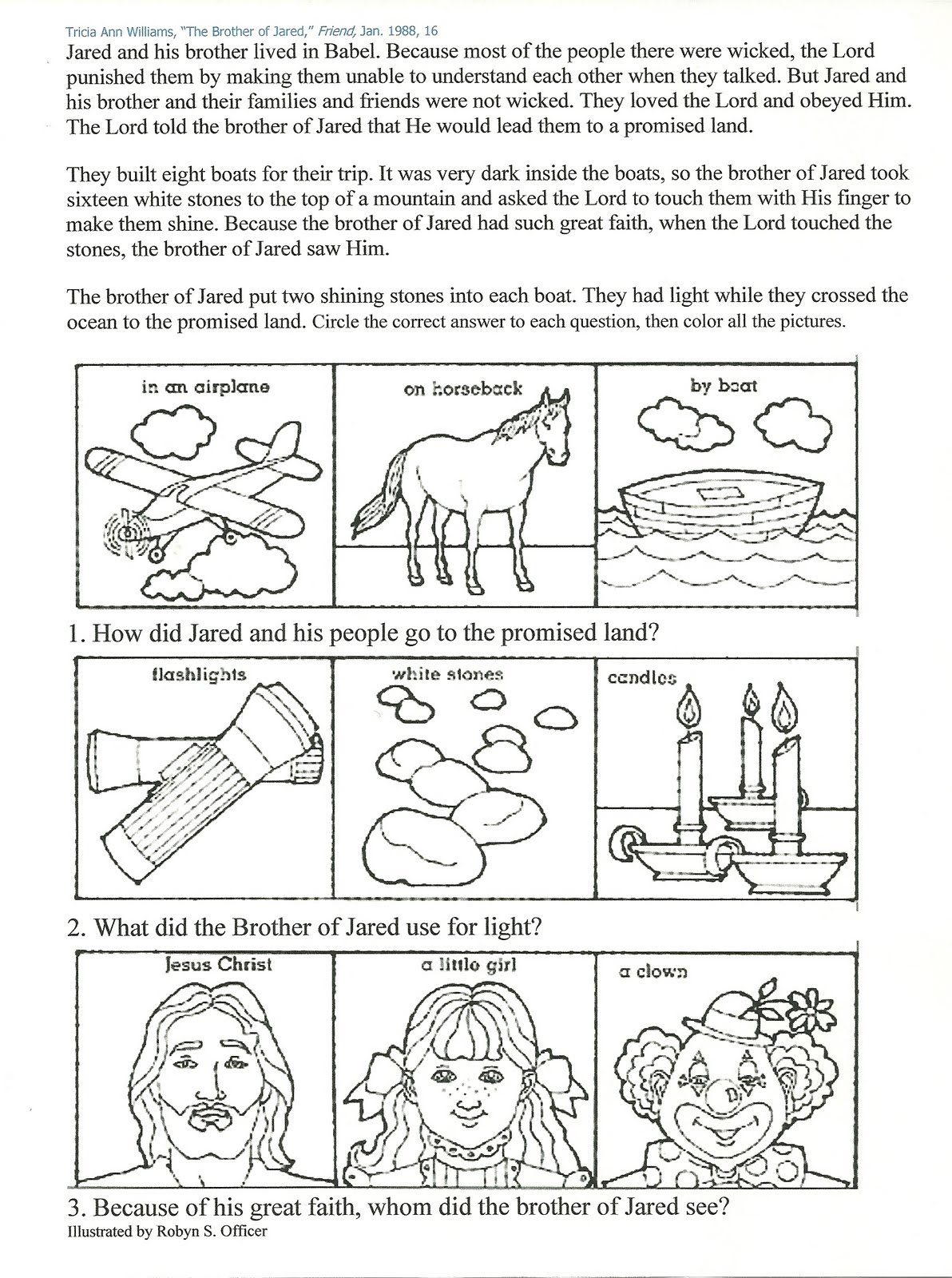 jaredites coloring pages - photo#14