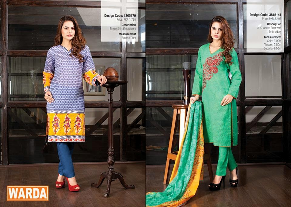 Spring Summer Lawn Collection 2015 by Warda
