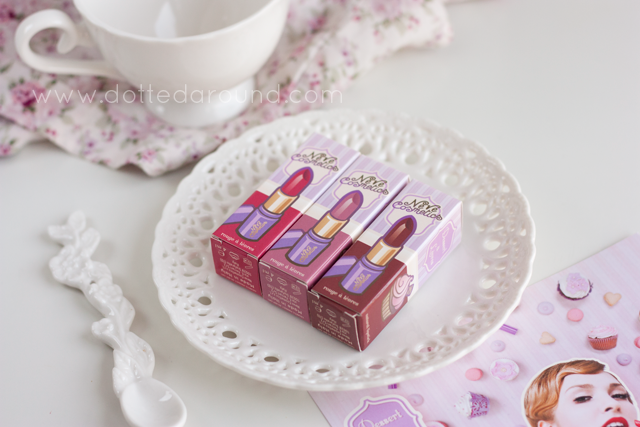 neve cosmetics rossetti dessert a levres lipstick