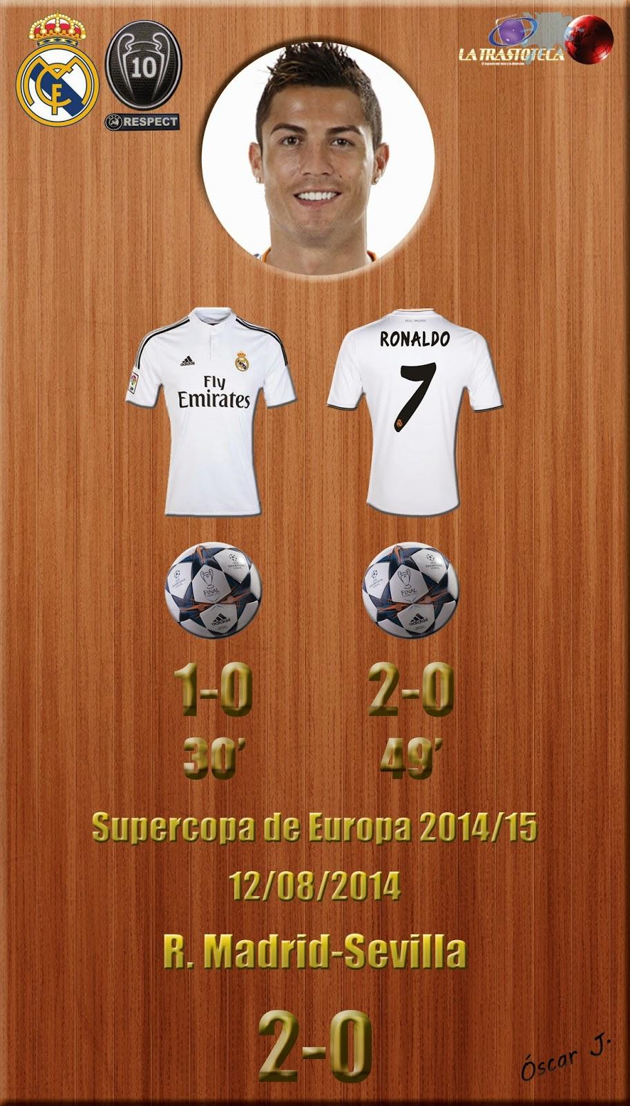 Cristiano Ronaldo (1-0) y (2-0) - Supercopa de Europa 2014/15
