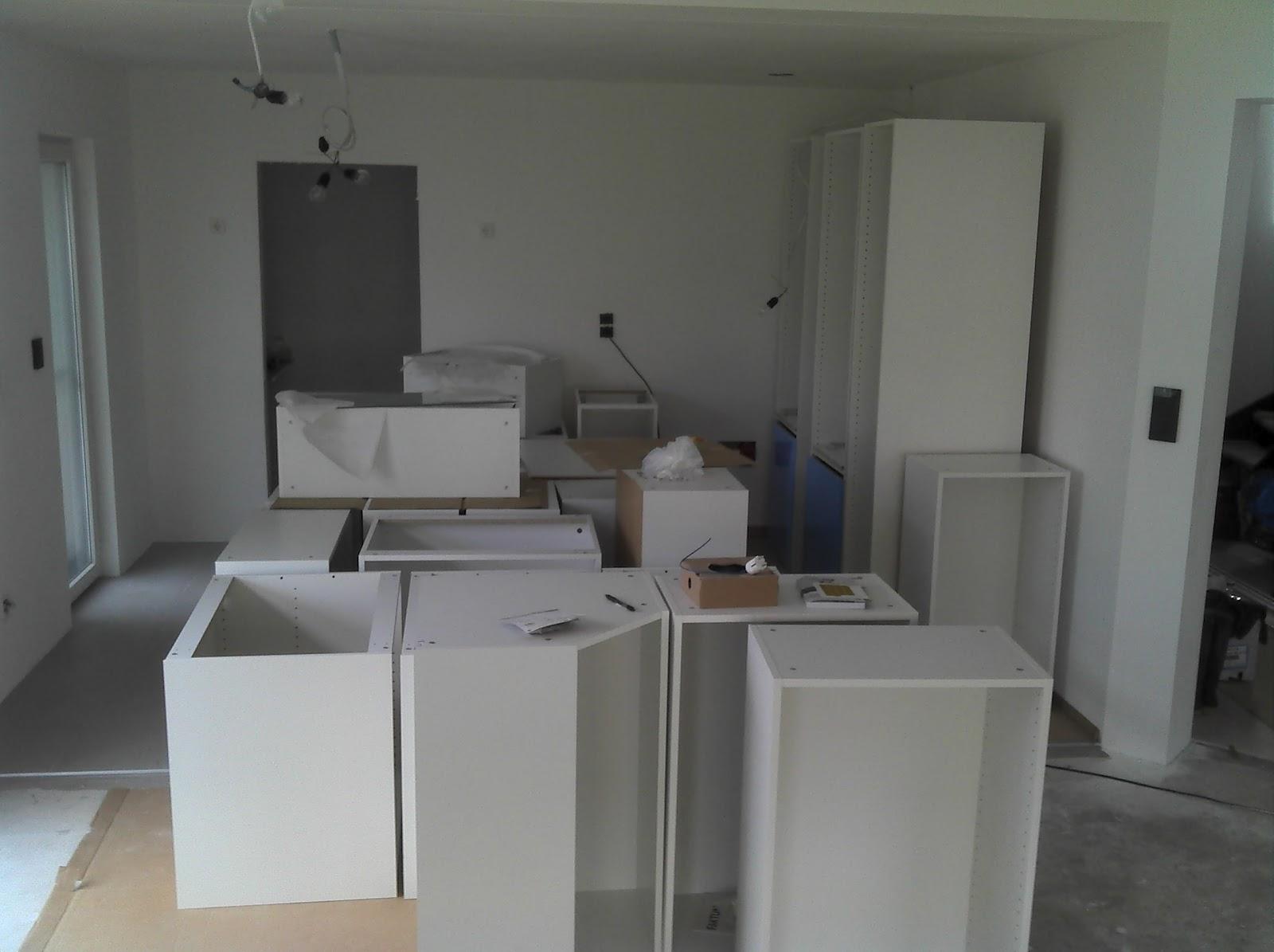 hausbau - das tor zur hölle ;-): die küche (21.8.2012)