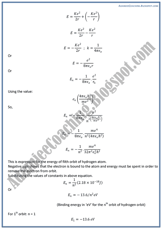 The-Atomic-Spectra-Theory-Notes-Physics-XII