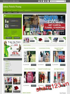 Johny Palelu Peang - Template web bán hàng chuyên nghiệp cho blogger