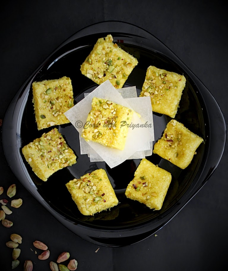 http://cookwithpriyankavarma.blogspot.co.uk/2014/08/mango-kalakand-quick-recipe_1.html