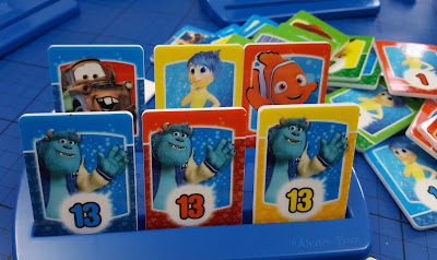 Disney Rummy Monsters Inc playing tiles in holder