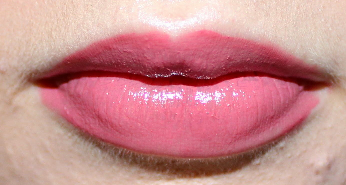 Rimmel Apocalips Lip Lacquer in Celestial on Lips