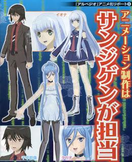 Arpeggio anime design
