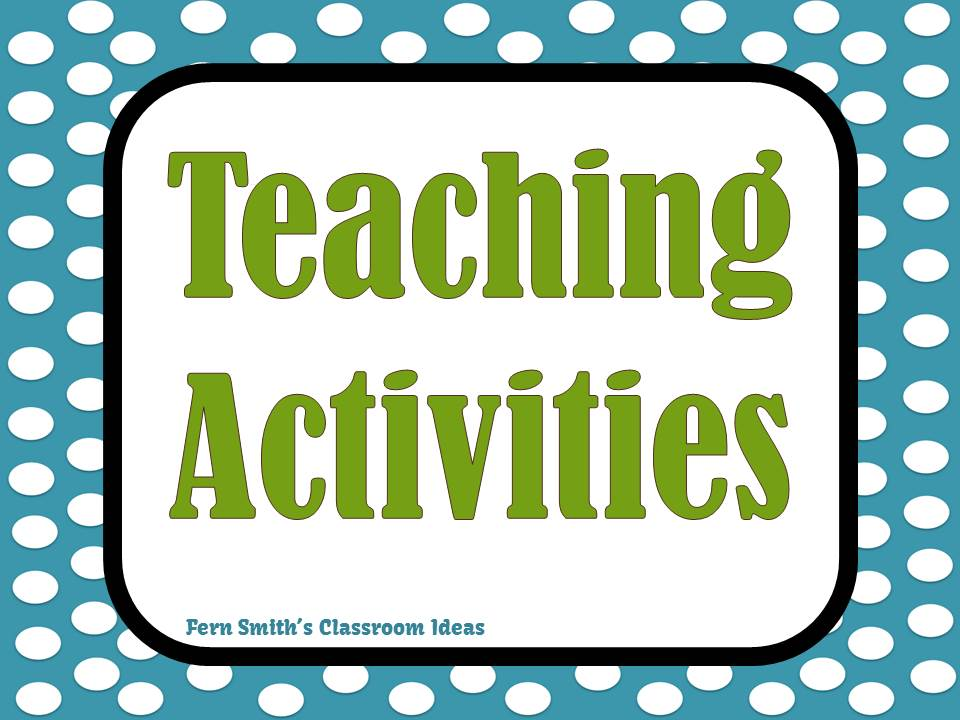 Fern Smith's Classroom Ideas Teaching Activities