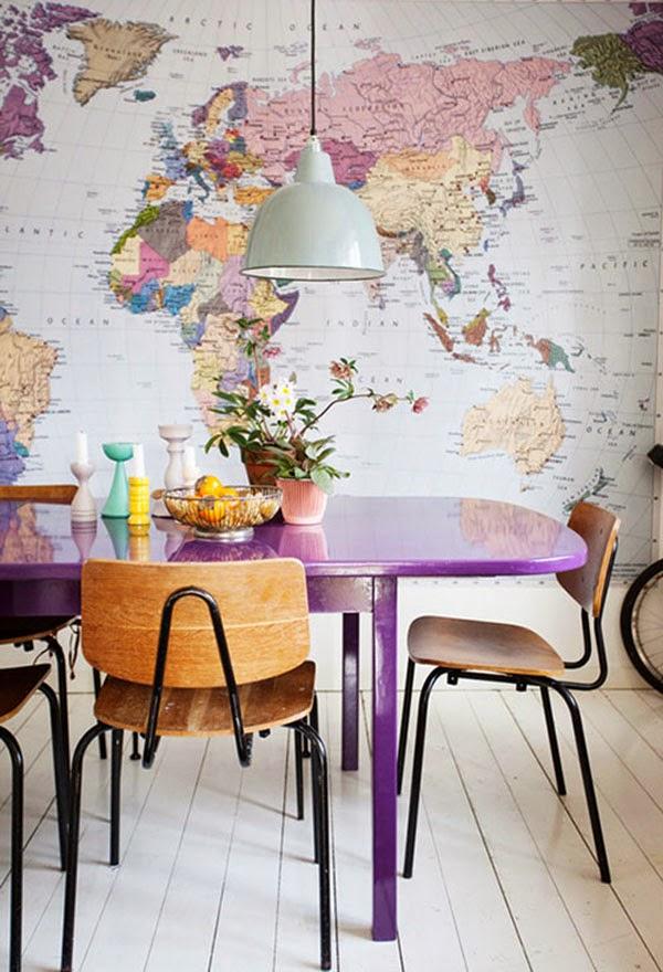 lamanugoround-mappamondi-globes-maps-dining room-sala da pranzo