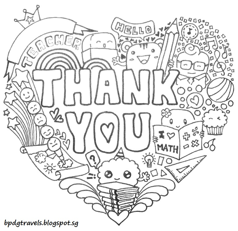 thank you doodle coloring pages - photo#19