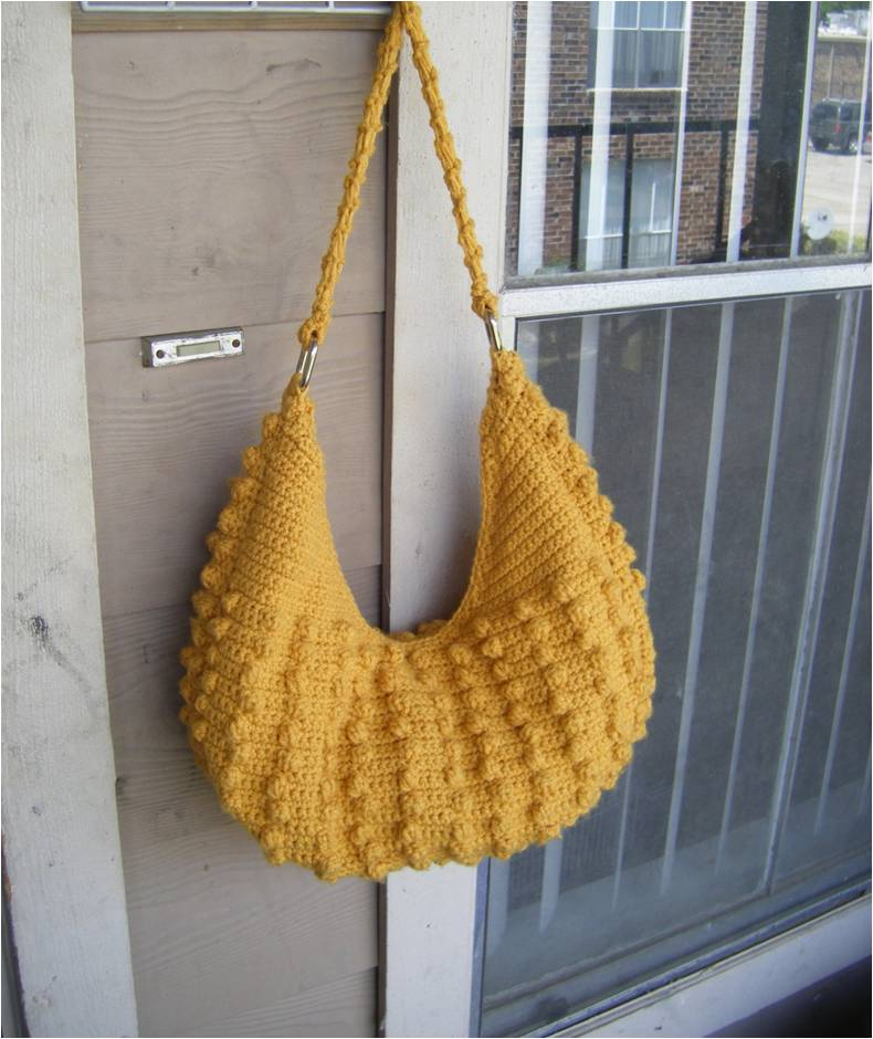 Free Hobo Purse Pattern : Best Patterns: Natalia Hobo Crochet Tote Bag Pattern PERMISSION SELL ...