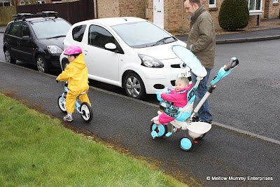 Grinning from ear-to-ear on the Smart Trike Dream