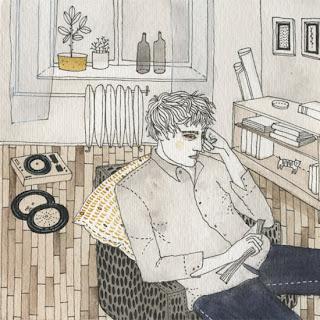 Gli interni illustrati di Yelena Bryksenkova