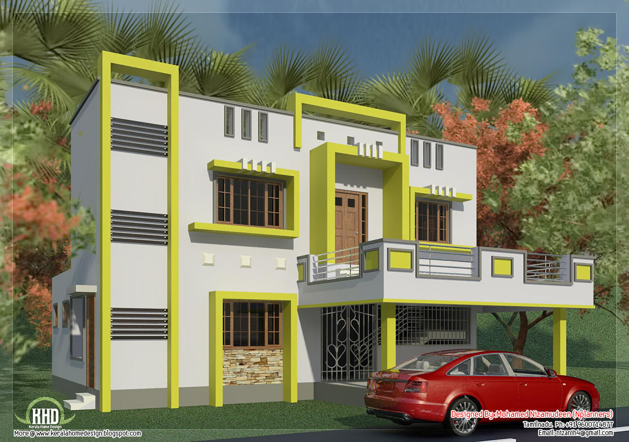 Tamilnadu house design in 1650 kerala home for Tamilnadu house designs photos
