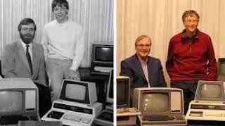 Bill Gates y Paul Allen recrean foto de los inicios de Microsoft, 32 años después.