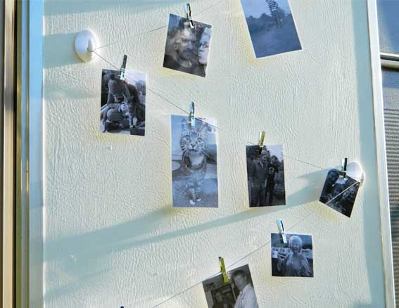 Enthused monkey crafty diy hanging photo display for Diy hanging picture display
