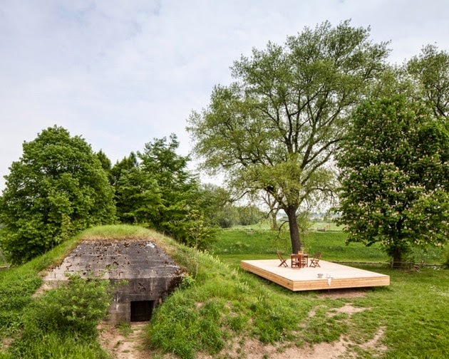 Rumah Minimalis Kecil di bawah Tanah